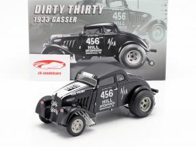 Willys Gasser Dirty Thirty Baujahr 1933 satin schwarz / weiß 1:18 GMP