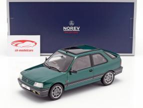 Peugeot 309 GTi RHD Goodwood ano de construção 1991 verde metálico 1:18 Norev