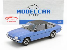 Opel Manta B Berlinetta year 1975 blue metallic 1:18 Model Car Group