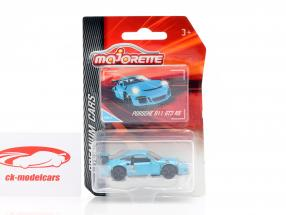 Porsche 911 GT3 RS blå 1:64 Majorette