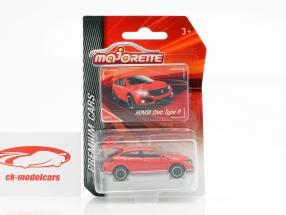 Honda Civic Type R vermelho 1:64 Majorette