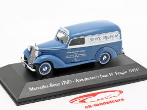 Mercedes-Benz 170D Automotores J. M. Fangio year 1954 blue / white 1:43 Altaya