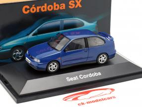 Seat Cordoba SX Baujahr 1996 dunkelblau metallic 1:43 Seat