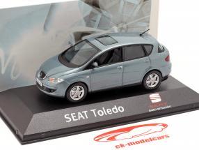 Seat Toledo III año de construcción 2004-2009 azul gris metálico 1:43 Seat