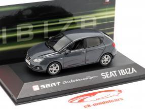 Seat Ibiza IV Opførselsår 2008-2017 mørkegrå metallisk 1:43 Seat
