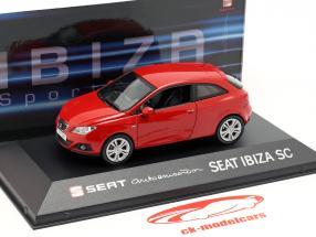 Seat Ibiza SC année de construction 2013 rouge 1:43 Seat