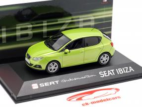 Seat Ibiza IV year 2008-2017 amarillo citrus green metallic 1:43 Seat