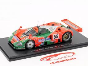 Mazda 787B #55 Winner 24h LeMans 1991 Weidler, Herbert, Gachot 1:43 Spark