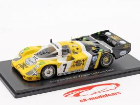 Porsche 956B #7 gagnant 24h LeMans 1984 Pescarolo, Ludwig 1:43 Spark