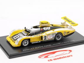 Renault Alpine A442 #2 ganador 24h LeMans 1978 Pironi, Jaussaud 1:43 Spark