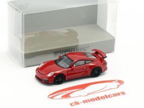 Porsche 911 GT3 Baujahr 2017 rot 1:87 Minichamps
