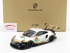 Porsche 911 RSR #91 campeón de la marca 24h LeMans 2019 con escaparate 1:18 Spark