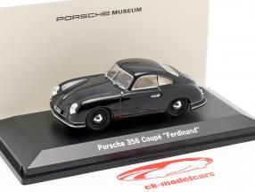 Porsche 356 Coupe Ferdinand 70 Jahre Baujahr 1950 schwarz 1:43 LuckyDieCast