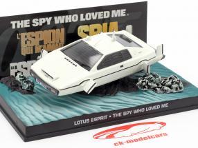 Lotus Esprit filme de James Bond The Spy Who Loved Me carro branco 1:43 Ixo