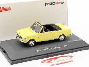 BMW 2002 Cabriolet 2/2 Baur amarillo 1:43 Schuco