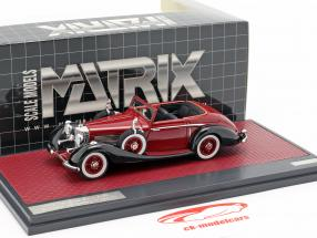 Mercedes-Benz 540K Roadster Lancefield Open Top 1938 vermelho 1:43 Matrix