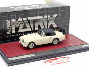 Aston Martin DB2/4 MK II DHC by Tickford Closed Top 1955 crema bianco 1:43 Matrix