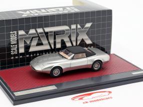 Jaguar XJ Spyder Concept Pininfarina Closed Top 1978 prata 1:43 Matrix