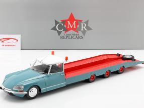 Citroen DS Tissier autotransporter blauw / wit / rood Bouwjaar 1970 1:18 CMR