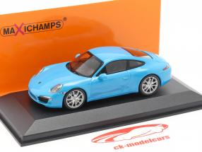Porsche 911 (991) Carrera S anno di costruzione 2012 blu 1:43 Minichamps