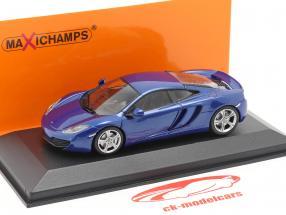 McLaren 12C ano 2011 azul 1:43 Minichamps