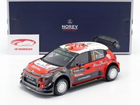 Citroen C3 WRC 2018 #11 2 ° Rallye Svezia 2018 Breen, Martin 1:18 Norev