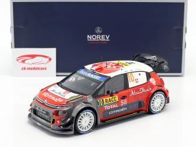Citroen C3 WRC 2018 #10 vencedor Rallye Catalunya 2018 Loeb, Elena 1:18 Norev