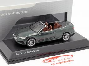 Audi A5 Cabriolet Baujahr 2017 gotlandgrün 1:43 Spark