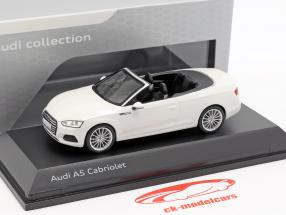Audi A5 Cabriolet Opførselsår 2017 tofana hvid 1:43 Spark