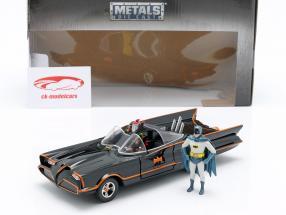 Batmobile mit Batman und Robin Figuren Classic TV-Serie 1966 1:24 Jada Toys