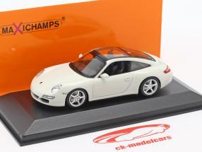 Porsche 911 (997) Targa Baujahr 2006 weiß 1:43 Minichamps