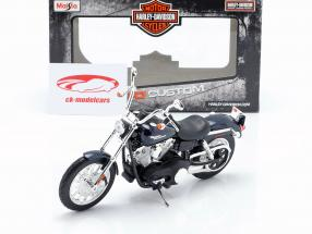 Harley Davidson FXDBI Dyna Street Bob 2006 donkerblauw / zwart 1:12 Maisto