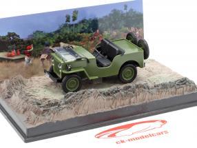 ウィリスジープM606ジェームズボンド映画オクトパシー茶色の車1時43分モデルIxo