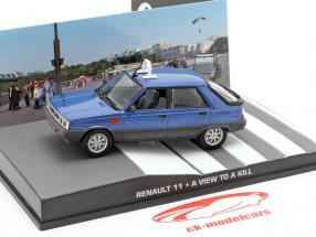 Renault 11 James Bond Movie Car Drown In Blue 1:43 Ixo