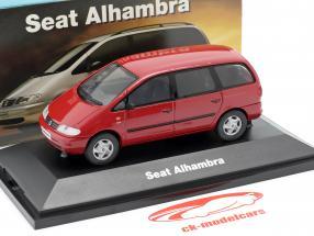 Seat Alhambra I ano de construção 1996-2010 vermelho 1:43 Seat