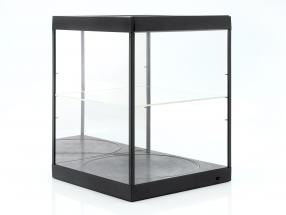 vitrine met LED-verlichting, spiegel en draaischijf voor schaal 1:18 zwart Triple9