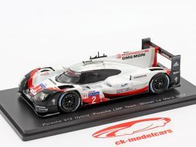 Porsche 919 Hybrid #2 gagnant 24h LeMans 2017 Bernhard, Hartley, Bamber 1:43 Spark