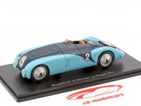 Bugatti 57G #2 vinder 24h LeMans 1937 Wimille, Benoist 1:43 Spark