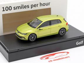 Volkswagen VW Golf VIII Opførselsår 2020 citron gul 1:43 Norev