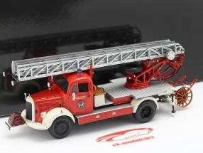 Mercedes-Benz L3500 brandvæsen Bensheim Opførselsår 1950 rød / hvid 1:43 Minichamps