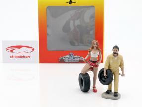 Tire Brigade Figur Set #1 Andie & Gery 1:18 MotorHeadMiniatures