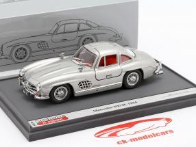 Mercedes-Benz 300 SL (W198) Gullwing Bouwjaar 1954 zilver 1:43 Brumm