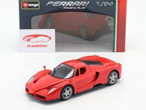 Ferrari Enzo Byggeår 2002-2004 Rød 1:24 Bburago