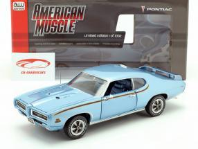 Pontiac GTO Judge Año de construcción 1969 azul metálico 1:18 Autoworld