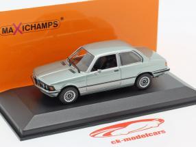 BMW 323i (E21) Byggeår 1975 blå grå metallisk 1:43 Minichamps