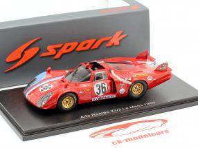 Alfa Romeo T33 / 2 #36 24h LeMans 1969 Gosselin, Bourgoignie 1:43 Spark