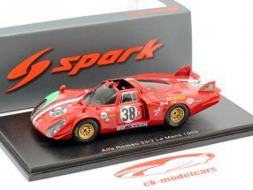 Alfa Romeo T33/2 #38 24h LeMans 1969 Pilette, Slotemaker 1:43 Spark