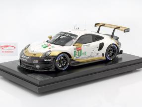 Porsche 911 RSR #91 Brand verdensmester 24h LeMans 2019 med udstillingsvindue 1:12 Spark