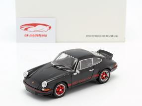 Porsche 911 Carrera RS Byggeår 1973 sort / rød 1:24 Welly