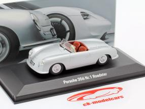 Porsche 356 Nr.1 Roadster 1948 70 ° anniversario argento 1:43 Minichamps